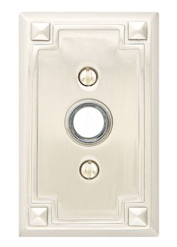 Lovely Door Bell Button With Arts U0026 Crafts Rectangle Rosette   Arts U0026 Crafts  Collection By Emtek ...