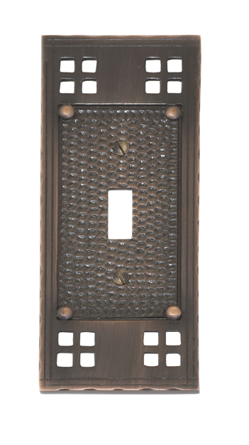 Knobs llc arts and crafts switch plates for Arts and crafts outlet covers