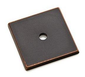 ... Art Deco Square Cabinet Knob Back Plate   Brass Collection By Emtek