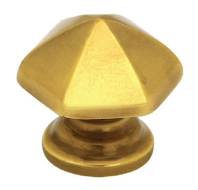 Hexagon Brass Cabinet Knob   Brass Collection By Emtek ...