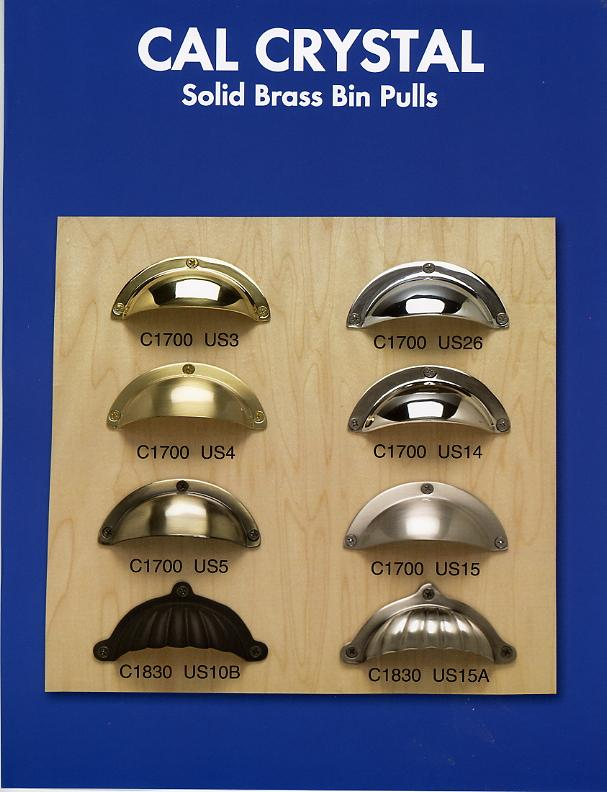 brass bin pull group a finishes polished brass satin nickel