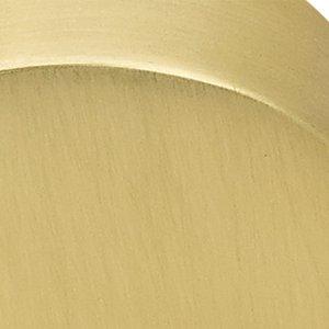 Polished Brass, Satin Brass (US4) Clear Providence Crystal Cabinet Knob    Crystal Collection By Emtek