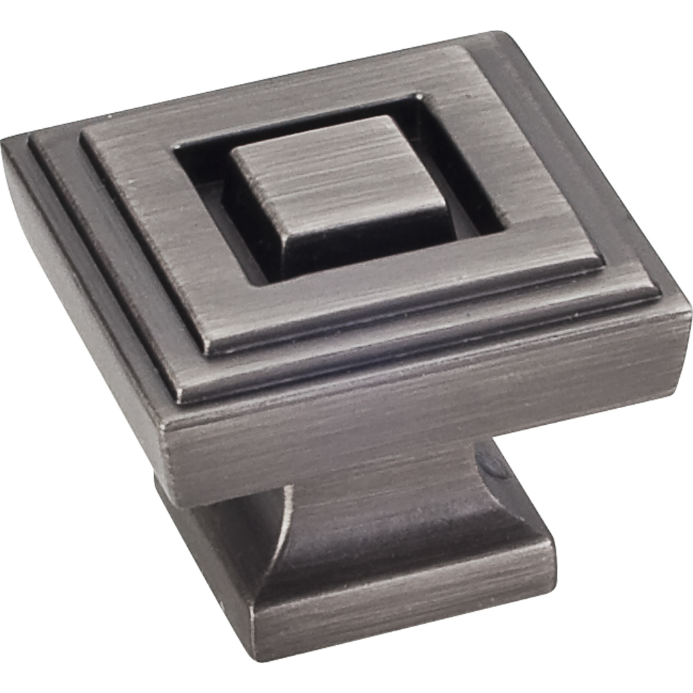 1-1/4 Overall Length Square Knob from the Delmar Collection by Jeffrey  Alexander