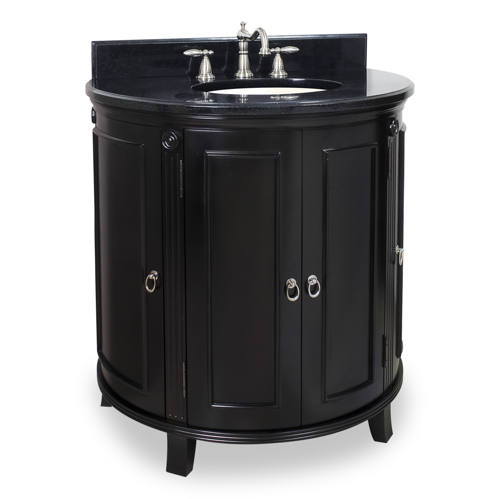 (click image to view larger image) Demi-Lune Espresso Vanity
