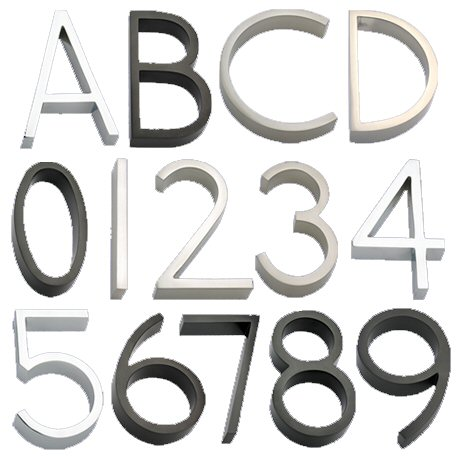 house numbers letters fro mthe accessories collection by linnea