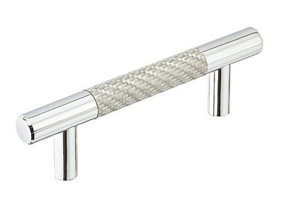 ... Silver Carbon Fiber Bar Pull - Modern Collection by Emtek