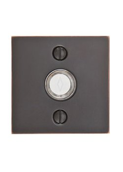 ... Door Bell Button With Modern Rosette   Modern Collection By Emtek  Products ...
