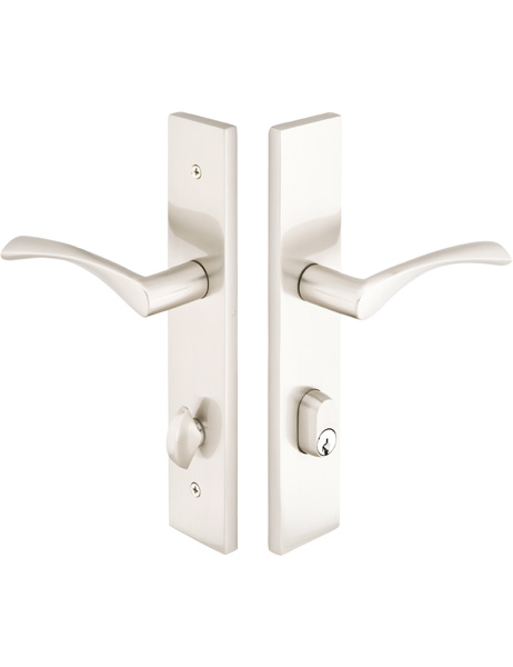 Modern Exterior Door With Multi Point Locks 4 Door Lites: Modern Collection By Emtek