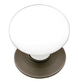 Ice White Cabinet Knob - Porcelain Collection by Emtek