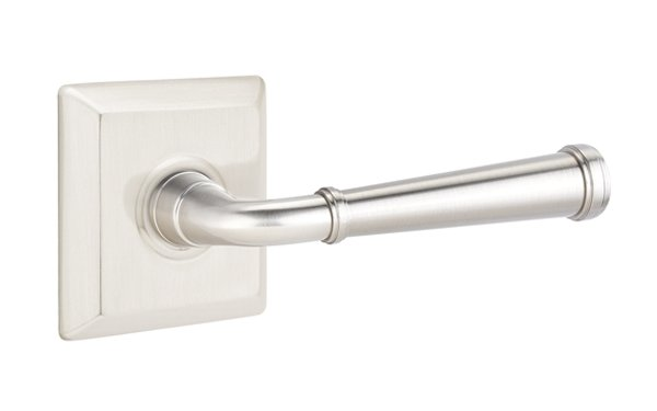 Emtek AssaAbloy 8100 TURINO Satin Nickel LEVER Door Hardware Passage Privacy Set