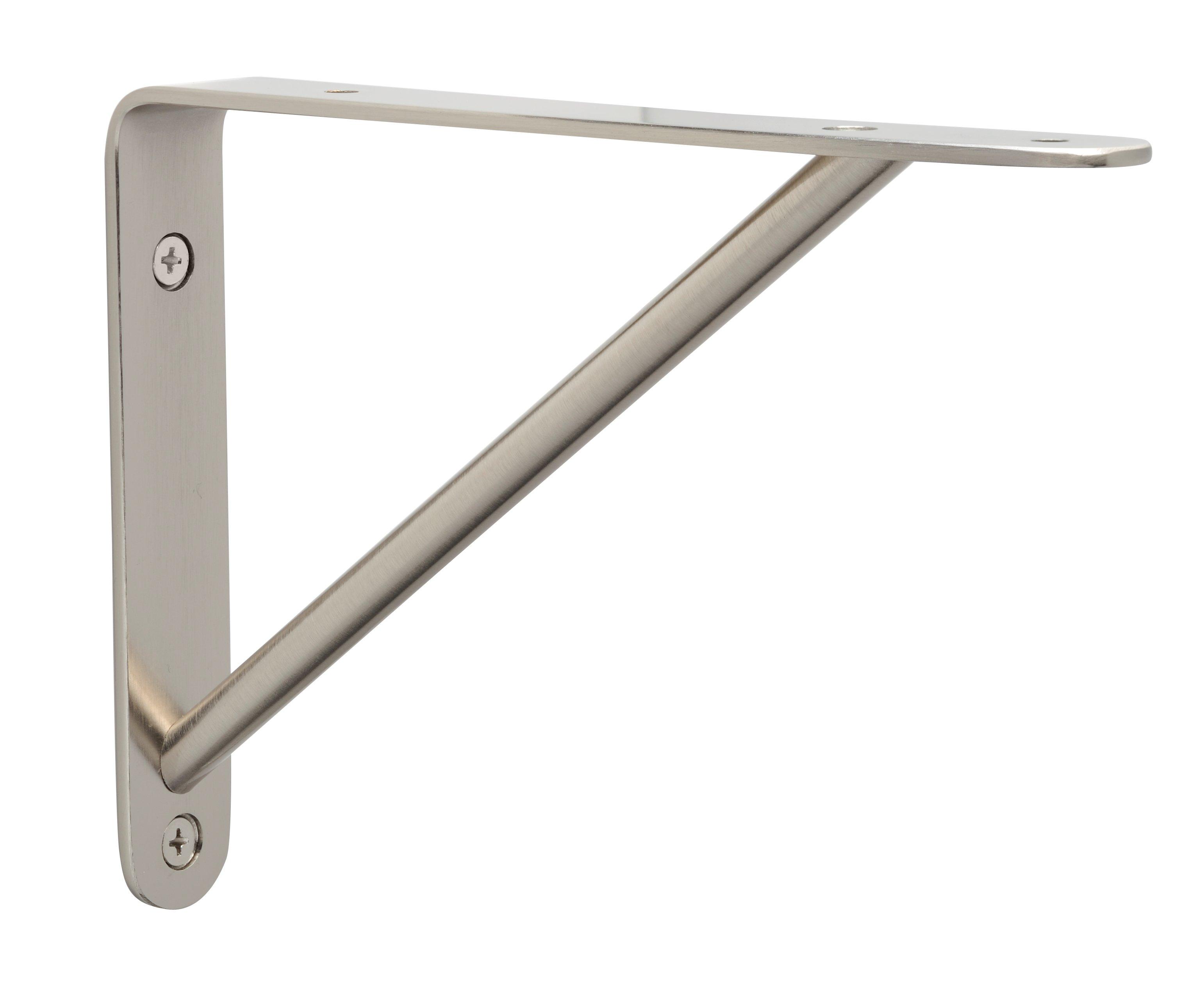 garage shelving bracket ideas - Cascadia Modern Shelf Bracket CRM 20 SN Satin Nickel