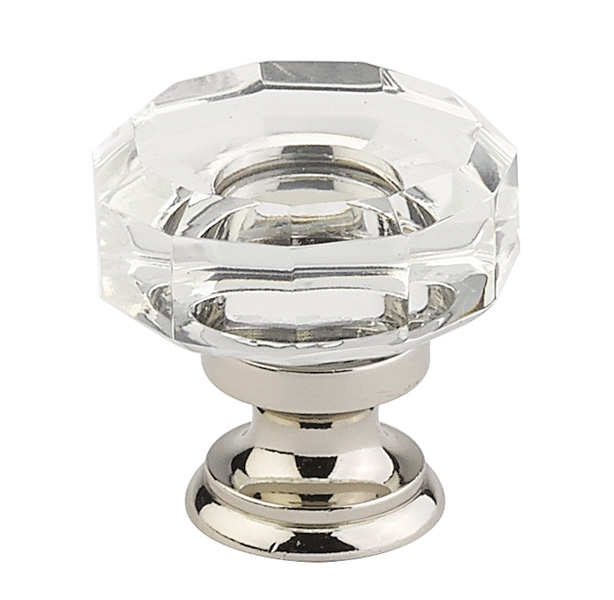 clear lowell cabinet knob crystal collection by emtek