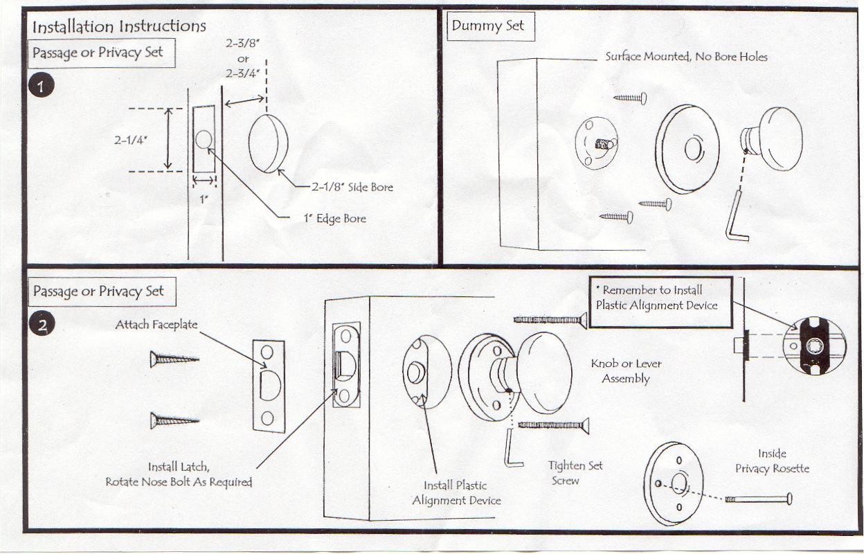 Ie closet doors and sometimes on an exterior door in conjunction with -  Ie Closet Doors And Sometimes On An Exterior Door In Conjunction With A Separate Deadbolt Click On This Link For Emtek S Installation Instructions
